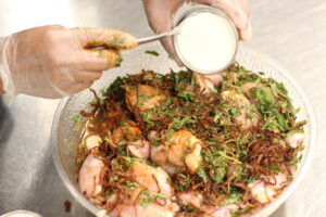 Hyderabadi Dum Biryani in making